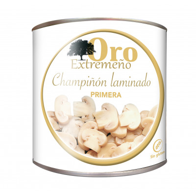 CHAMPIÑON LAMINADO PRIMERA lata 3Kg 1330 GRS ORO EXTREMEÑO