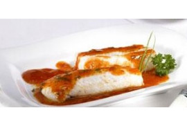 HAKE WITH PIQUILLO PEPPER SAUCE