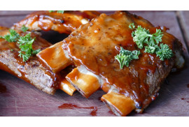 BACKED RIBS WITH HONEY SAUCE AND MUSTARD