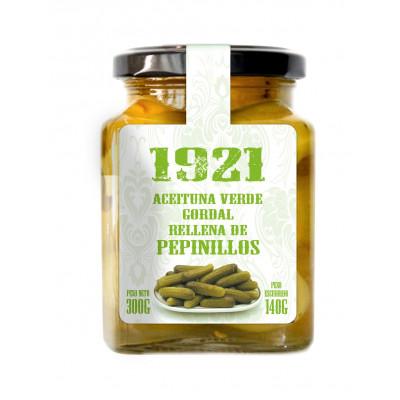 ACEITUNA VERDE GORDAL RELLENA DE PEPINILLOS 1921