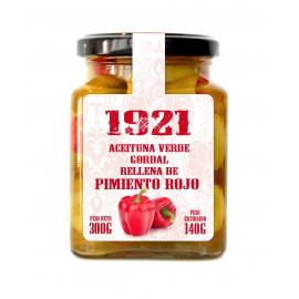 ACEITUNA VERDE GORDAL RELLENA DE PIMIENTO ROJO 1921