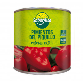 WHOLE PIQUILLO PEPPER EXTRA can 3Kg (80/100) (Perú)