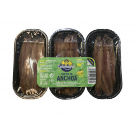 FILETES DE ANCHOA ACEITE OLIVA TRIPACK 75 GR ESCURRIDO (EASY PEEL)
