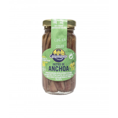 FILETES DE ANCHOA ACEITE OLIVA TR-100/55GR ESCURRIDO